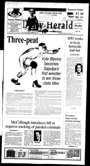Primary view of Sapulpa Daily Herald (Sapulpa, Okla.), Vol. 93, No. 89, Ed. 1 Monday, February 25, 2008