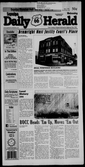 Primary view of Sapulpa Daily Herald (Sapulpa, Okla.), Vol. 96, No. 182, Ed. 1 Wednesday, June 1, 2011