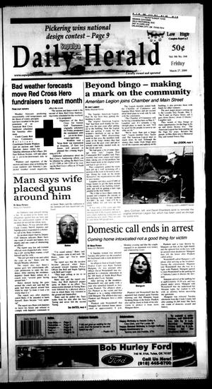 Primary view of Sapulpa Daily Herald (Sapulpa, Okla.), Vol. 94, No. 165, Ed. 1 Friday, March 27, 2009