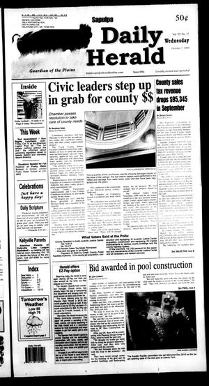Primary view of Sapulpa Daily Herald (Sapulpa, Okla.), Vol. 95, No. 17, Ed. 1 Wednesday, October 7, 2009