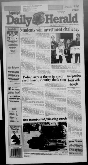 Primary view of Sapulpa Daily Herald (Sapulpa, Okla.), Vol. 98, No. 117, Ed. 1 Friday, March 1, 2013
