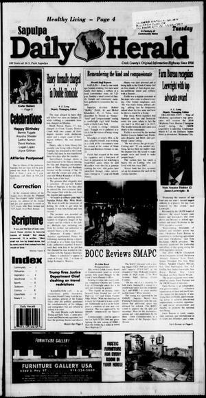 Primary view of Sapulpa Daily Herald (Sapulpa, Okla.), Vol. 102, No. 99, Ed. 1 Tuesday, January 31, 2017