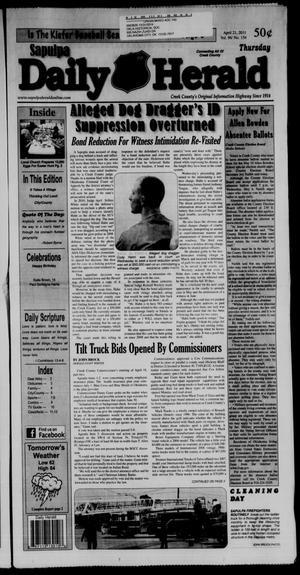 Primary view of Sapulpa Daily Herald (Sapulpa, Okla.), Vol. 96, No. 154, Ed. 1 Thursday, April 21, 2011