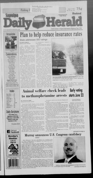 Primary view of Sapulpa Daily Herald (Sapulpa, Okla.), Vol. 97, No. 195, Ed. 1 Sunday, June 17, 2012