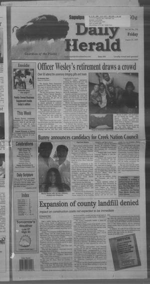 Primary view of Sapulpa Daily Herald (Sapulpa, Okla.), Vol. 94, No. 276, Ed. 1 Friday, August 28, 2009