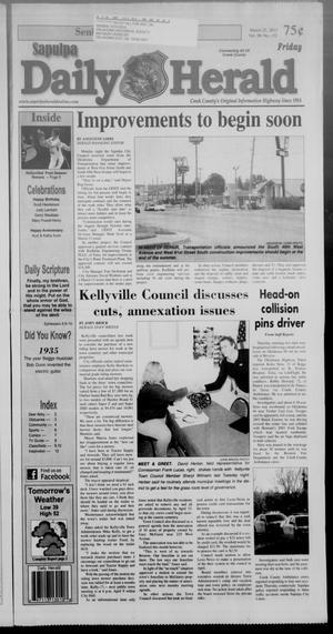 Primary view of Sapulpa Daily Herald (Sapulpa, Okla.), Vol. 98, No. 132, Ed. 1 Friday, March 22, 2013