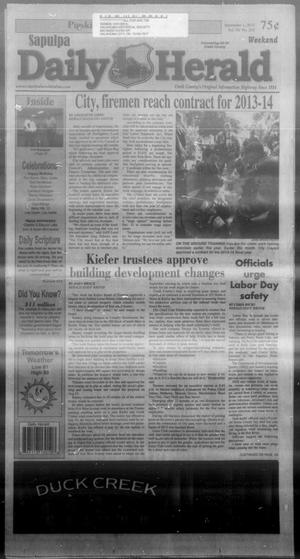 Primary view of Sapulpa Daily Herald (Sapulpa, Okla.), Vol. 98, No. 242, Ed. 1 Sunday, September 1, 2013