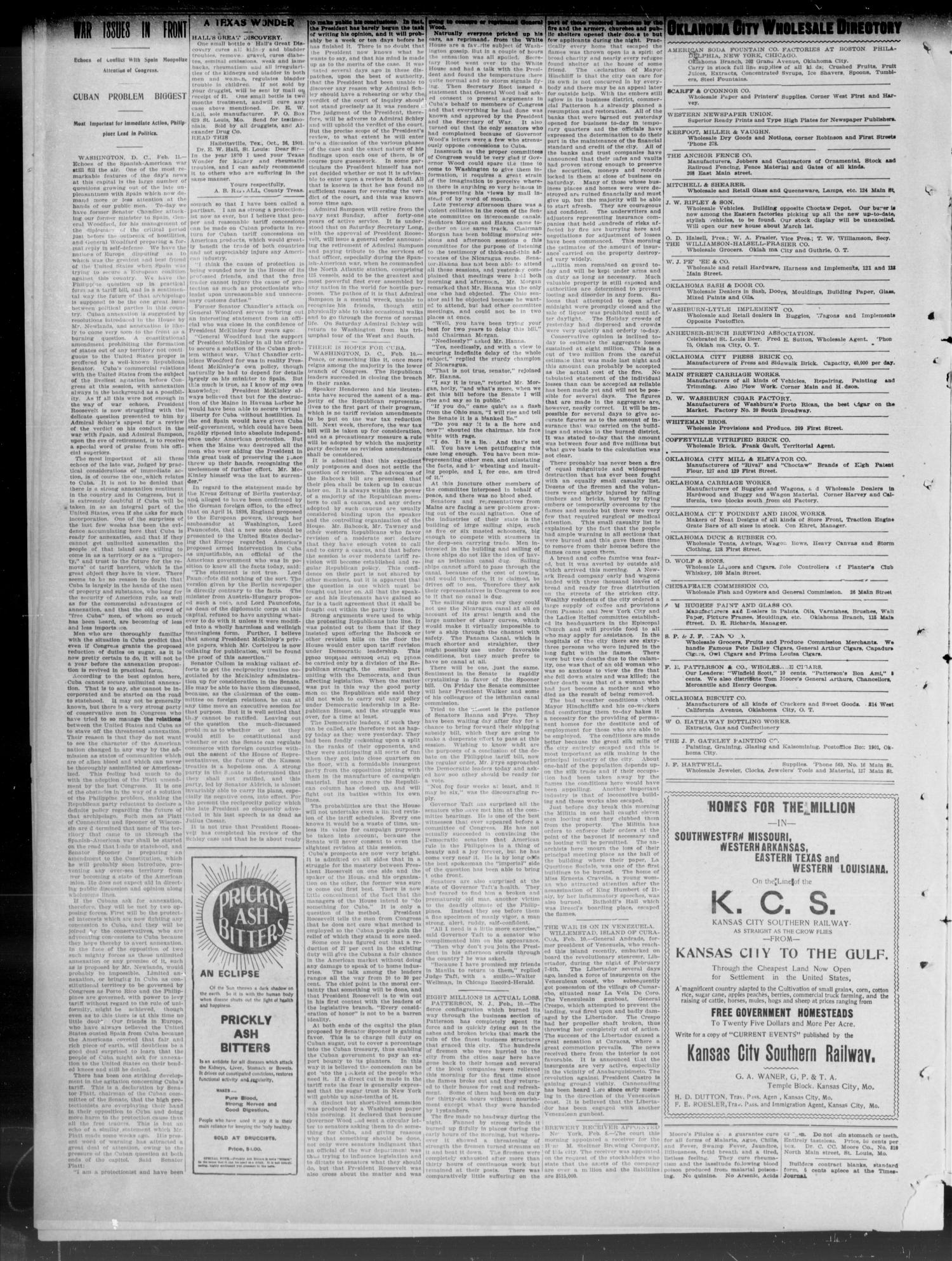 The Weekly Times-Journal. (Oklahoma City, Okla.), Vol. 13, No. 43, Ed. 1 Friday, February 14, 1902                                                                                                      [Sequence #]: 2 of 8