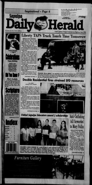 Primary view of Sapulpa Daily Herald (Sapulpa, Okla.), Vol. 101, No. 130, Ed. 1 Friday, May 6, 2016