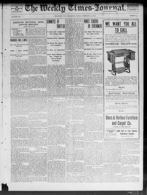 Primary view of object titled 'The Weekly Times-Journal. (Oklahoma City, Okla.), Vol. 13, No. 44, Ed. 1 Friday, February 21, 1902'.