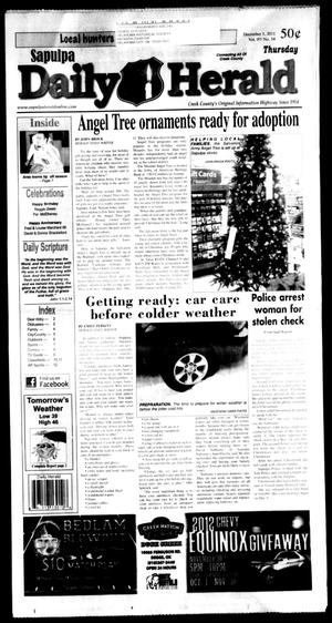 Primary view of Sapulpa Daily Herald (Sapulpa, Okla.), Vol. 97, No. 56, Ed. 1 Thursday, December 1, 2011