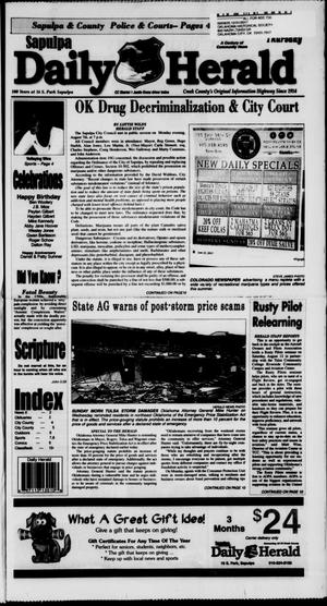 Primary view of Sapulpa Daily Herald (Sapulpa, Okla.), Vol. 102, No. 235, Ed. 1 Thursday, August 10, 2017