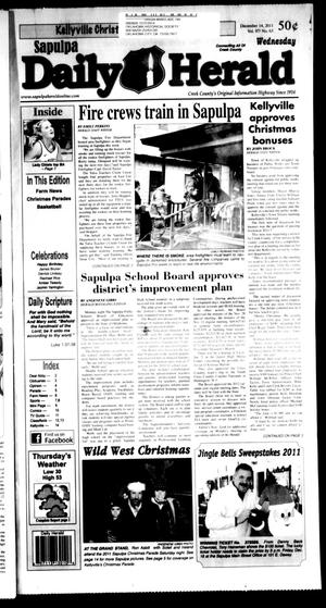 Primary view of Sapulpa Daily Herald (Sapulpa, Okla.), Vol. 97, No. 65, Ed. 1 Wednesday, December 14, 2011