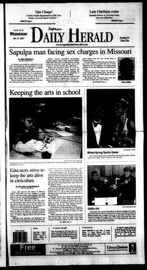 Primary view of Sapulpa Daily Herald (Sapulpa, Okla.), Vol. 92, No. 70, Ed. 1 Wednesday, January 31, 2007