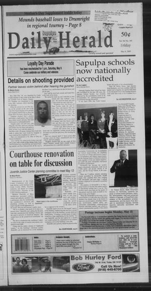 Primary view of Sapulpa Daily Herald (Sapulpa, Okla.), Vol. 94, No. 195, Ed. 1 Friday, May 8, 2009