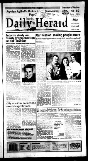 Primary view of Sapulpa Daily Herald (Sapulpa, Okla.), Vol. 93, No. 242, Ed. 1 Sunday, August 24, 2008