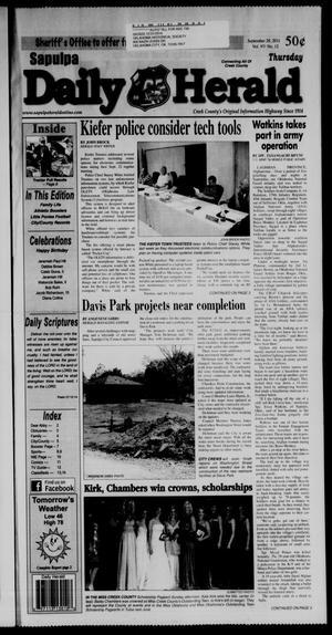 Primary view of Sapulpa Daily Herald (Sapulpa, Okla.), Vol. 97, No. 12, Ed. 1 Thursday, September 29, 2011