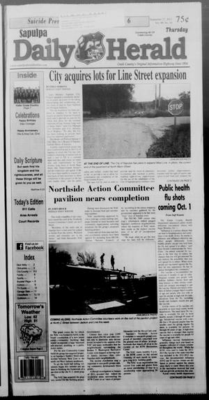Primary view of Sapulpa Daily Herald (Sapulpa, Okla.), Vol. 98, No. 10, Ed. 1 Thursday, September 27, 2012