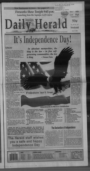 Primary view of Sapulpa Daily Herald (Sapulpa, Okla.), Vol. 94, No. 237, Ed. 1 Sunday, July 5, 2009