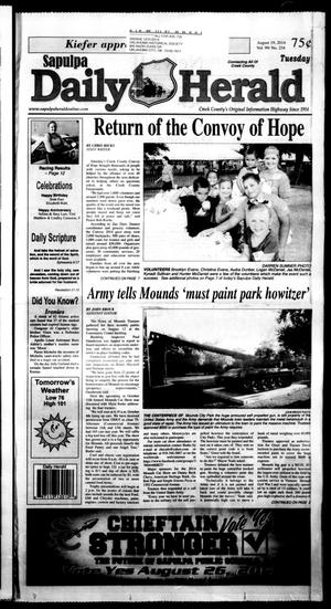 Primary view of Sapulpa Daily Herald (Sapulpa, Okla.), Vol. 99, No. 235, Ed. 1 Tuesday, August 19, 2014