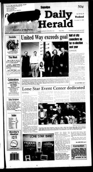 Primary view of Sapulpa Daily Herald (Sapulpa, Okla.), Vol. 95, No. 50, Ed. 1 Sunday, November 22, 2009