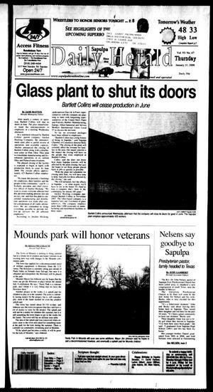 Primary view of Sapulpa Daily Herald (Sapulpa, Okla.), Vol. 93, No. 68, Ed. 1 Thursday, January 31, 2008