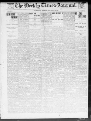Primary view of object titled 'The Weekly Times-Journal. (Oklahoma City, Okla.), Vol. 14, No. 18, Ed. 1 Friday, August 22, 1902'.