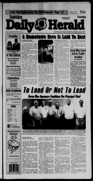 Primary view of Sapulpa Daily Herald (Sapulpa, Okla.), Vol. 96, No. 235, Ed. 1 Tuesday, August 16, 2011