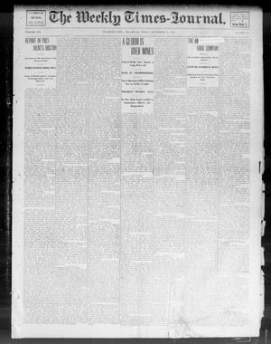 Primary view of object titled 'The Weekly Times-Journal. (Oklahoma City, Okla.), Vol. 14, No. 20, Ed. 1 Friday, September 5, 1902'.