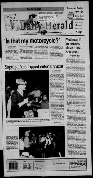 Primary view of Sapulpa Daily Herald (Sapulpa, Okla.), Vol. 93, No. 141, Ed. 1 Monday, April 28, 2008