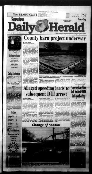 Primary view of Sapulpa Daily Herald (Sapulpa, Okla.), Vol. 99, No. 83, Ed. 1 Tuesday, January 14, 2014