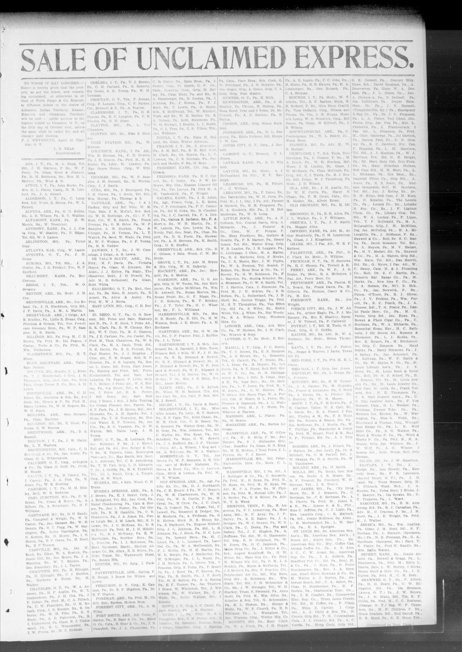 The Chandler Publicist  (Chandler, Okla  Terr ), Vol  9, No