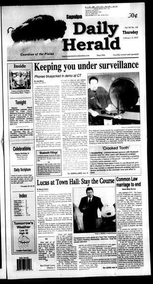 Primary view of Sapulpa Daily Herald (Sapulpa, Okla.), Vol. 95, No. 110, Ed. 1 Thursday, February 18, 2010