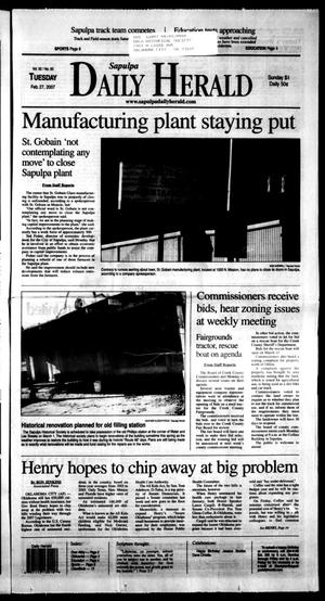 Primary view of Sapulpa Daily Herald (Sapulpa, Okla.), Vol. 92, No. 93, Ed. 1 Tuesday, February 27, 2007