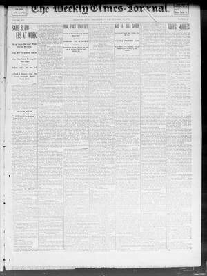Primary view of object titled 'The Weekly Times-Journal. (Oklahoma City, Okla.), Vol. 14, No. 28, Ed. 1 Friday, October 31, 1902'.