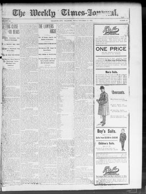 Primary view of object titled 'The Weekly Times-Journal. (Oklahoma City, Okla.), Vol. 14, No. 30, Ed. 1 Friday, November 14, 1902'.