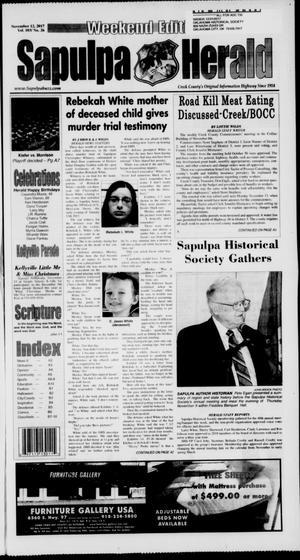 Primary view of Sapulpa Herald (Sapulpa, Okla.), Vol. 103, No. 26, Ed. 1 Sunday, November 12, 2017