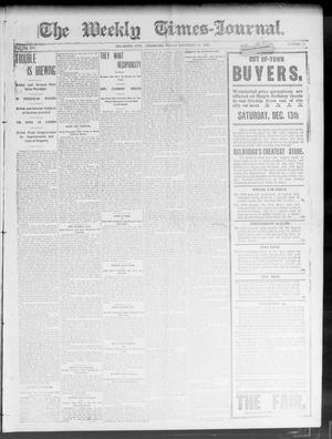 Primary view of object titled 'The Weekly Times-Journal. (Oklahoma City, Okla.), Vol. 14, No. 34, Ed. 1 Friday, December 12, 1902'.