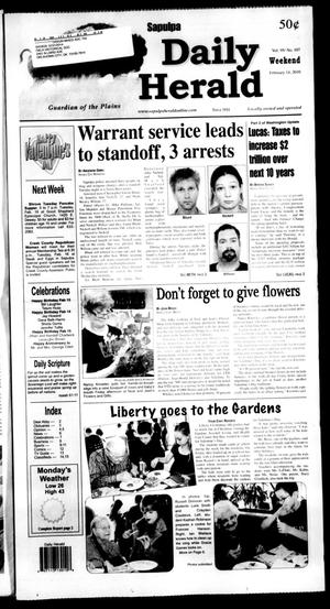 Primary view of Sapulpa Daily Herald (Sapulpa, Okla.), Vol. 95, No. 107, Ed. 1 Sunday, February 14, 2010