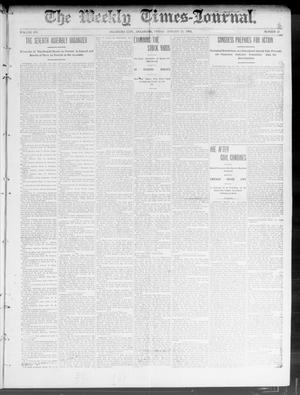 Primary view of object titled 'The Weekly Times-Journal. (Oklahoma City, Okla.), Vol. 14, No. 39, Ed. 1 Friday, January 16, 1903'.