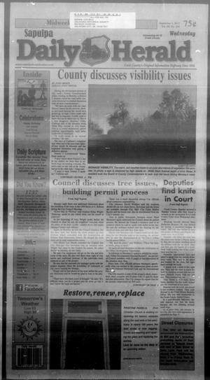 Primary view of Sapulpa Daily Herald (Sapulpa, Okla.), Vol. 98, No. 244, Ed. 1 Wednesday, September 4, 2013