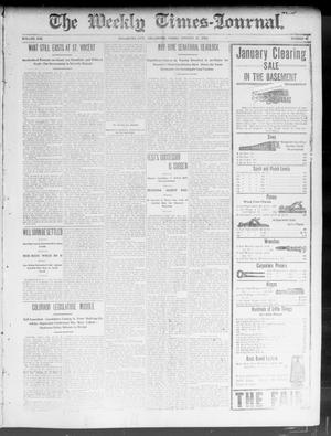Primary view of object titled 'The Weekly Times-Journal. (Oklahoma City, Okla.), Vol. 14, No. 40, Ed. 1 Friday, January 23, 1903'.