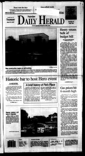 Primary view of Sapulpa Daily Herald (Sapulpa, Okla.), Vol. 92, No. 119, Ed. 1 Thursday, March 29, 2007