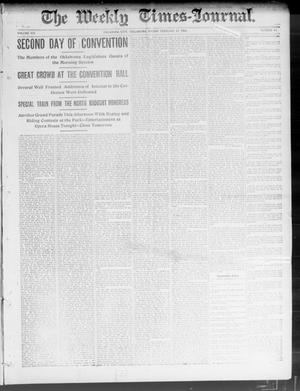 Primary view of object titled 'The Weekly Times-Journal. (Oklahoma City, Okla.), Vol. 14, No. 43, Ed. 1 Friday, February 13, 1903'.