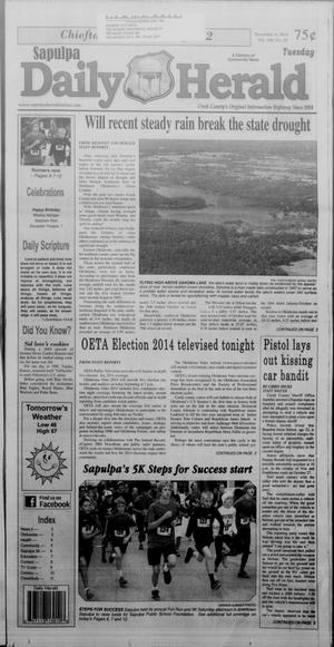 Primary view of Sapulpa Daily Herald (Sapulpa, Okla.), Vol. 100, No. 36, Ed. 1 Tuesday, November 4, 2014