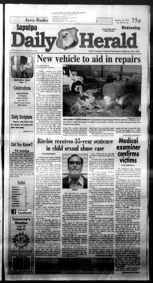 Primary view of Sapulpa Daily Herald (Sapulpa, Okla.), Vol. 99, No. 89, Ed. 1 Wednesday, January 22, 2014
