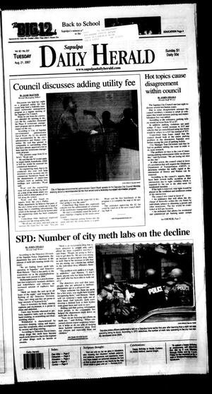 Primary view of object titled 'Sapulpa Daily Herald (Sapulpa, Okla.), Vol. 92, No. 243, Ed. 1 Tuesday, August 21, 2007'.