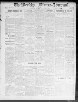 Primary view of object titled 'The Weekly Times-Journal. (Oklahoma City, Okla.), Vol. 14, No. 47, Ed. 1 Friday, March 13, 1903'.
