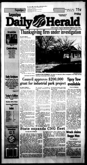 Primary view of Sapulpa Daily Herald (Sapulpa, Okla.), Vol. 98, No. 50, Ed. 1 Friday, November 23, 2012