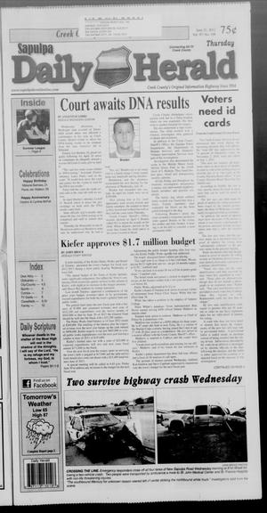 Primary view of Sapulpa Daily Herald (Sapulpa, Okla.), Vol. 97, No. 198, Ed. 1 Thursday, June 21, 2012